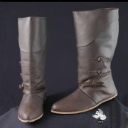 Mid-Calf Leather Medieval Boots